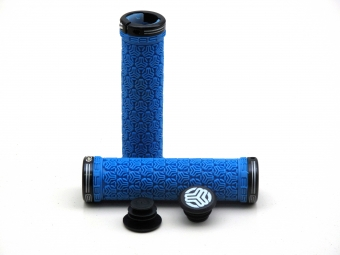 SB3 Pair of grips LOGO + lock On Blue Black