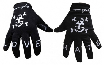 BICYCLE UNION Paire de gants LOVE & HATE Noir