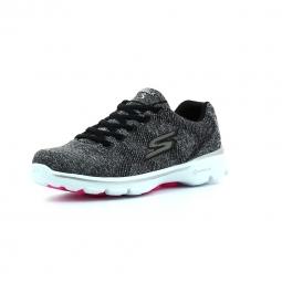 Chaussures de Cross Training Femme Skechers Go Walk 3 Stretch Gris