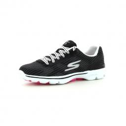Chaussures de Cross Training Femme Skechers Go Walk 3 FitKnit Noir
