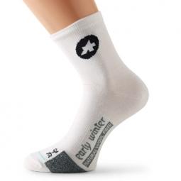 assos paire de chaussettes earlywintersocks s7 blanc 35 38