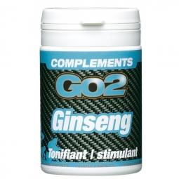 GO2 Compléments alimentaires Ginseng boîte de 50 comprimés
