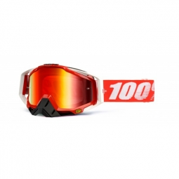 100 masque racecraft fire red rouge ecran miroir rouge