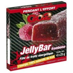 GO2 Barre énergétique JellyBar 4x25gr Goût Framboise