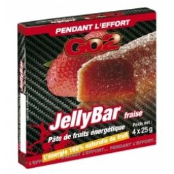 GO2 Barre énergétique JellyBar 4x25gr Goût Fraise
