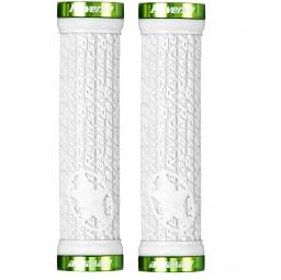 REVERSE Paire de Grips STAMP  Blanc Vert
