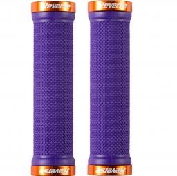 REVERSE Paire de Grips Lock On Violet Orange