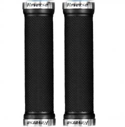 Puños Reverse Grips LOCK ON - black silver