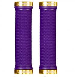 Par Inversa De Purple Gold Lock On Grips