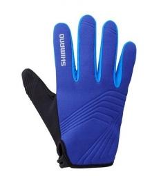 SHIMANO Paire de Gants Hiver Coupe Bleu