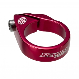 Reverse collier de selle a vis diametre 34 9 mm rouge