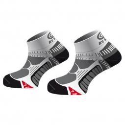 BV SPORT Paire de chaussettes RUNNING Noir Blanc