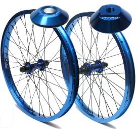 PROPER PACK Wheelset Roues Avant et Arrière RHD + Hubguard Bleu
