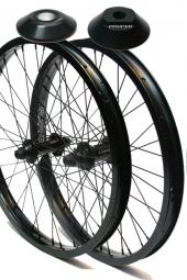 PROPER PACK Wheelset Roues Avant et Arrière LHD + Hubguard Noir