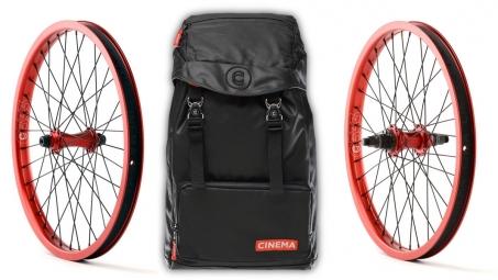 CINEMA Pack Wheelset ZX 2014 RHD Black + Backpack RUCKSACK Red