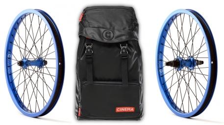 CINEMA Pack Wheelset ZX 2014 RHD Black + Backpack RUCKSACK Blue