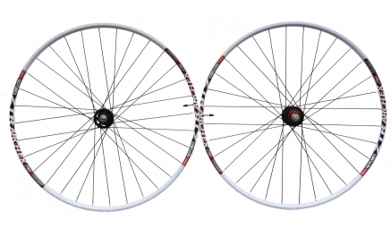 NOTUBES Paire de Roues ZTR ARCH BLANC 29'' Axe 9 mm / Rayons DT