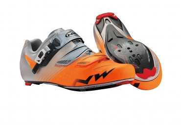 chaussures route northwave torpedo srs orange fluo gris 43 1 2