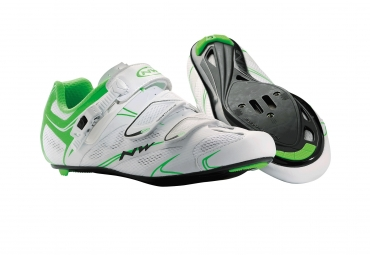 Chaussures Route Northwave SONIC SRS 2014 Blanc Vert Fluo