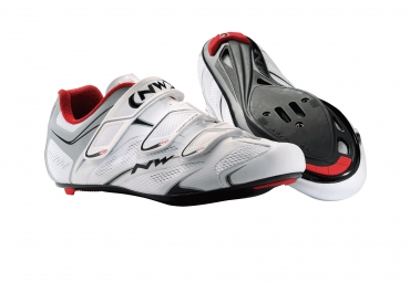 Chaussures Route Northwave SONIC 3S Blanc Rouge