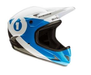 casque integral 661 sixsixone rage carbon noir bleu xl 60 62 cm