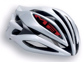 Casque Met SINE THESIS Blanc Rouge