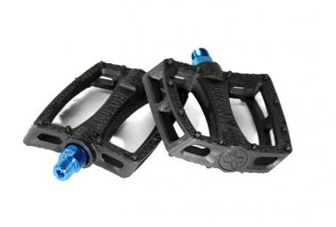 COLONY Pédales FANTASTIC Plastique Noir Axe Bleu