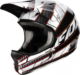 FOX RAMPAGE 2013 Full Face Helmet Black Blue Red