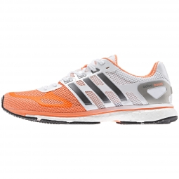 adidas Paire de Chaussures Adizero Adios Boost Femme Blanc Orange