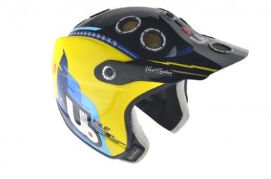 Casco Urge REAL JET 2014 Amarillo Azul Negro