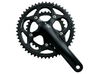 Shimano pedalier 105 5750 172 5 mm 50 34 sans cuvettes bsc noir