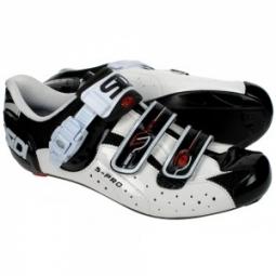 Chaussures Route Sidi GENIUS 5 PRO Blanc Noir Vernis