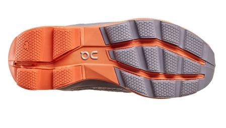 ON RUNNING Cloudrunner Gris Orange Femme