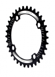 Plateau hope retainer narrow wide ring noir 30