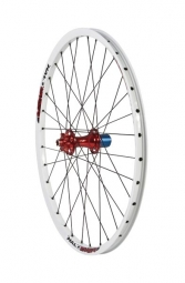 HALO Roue Arrière 26´´ CHAOS 6-Drive Spin Doctor 9mm QR Blanc