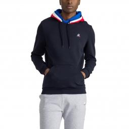 Sweat shirt a capuche le coq sportif tri color hoody n 1 xs