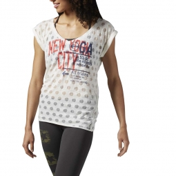Tee shirt manches courtes reebok tee new yoga city xs