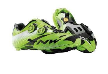 chaussures vtt northwave extreme tech mtb plus vert noir 39