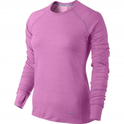 maillot femme nike dri fit sprint crew rose m