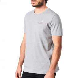 Tee shirt manches courtes le coq sportif fluorin tee s