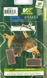 CL BRAKES Paire de plaquettes VX pour Shimano XTR M985 - XT M785 - SLX M675