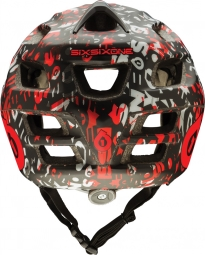 661 SIXSIXONE 2014 Helmet RECON REPEATER Black Red