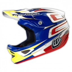 Casque intégral Troy Lee Designs D3 SPEED Bleu Blanc