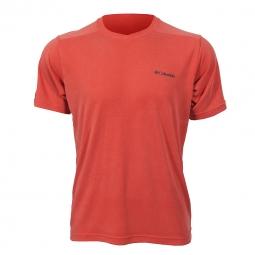 Tee shirt manches courtes columbia sun ridge novelty short sleeve v neck s