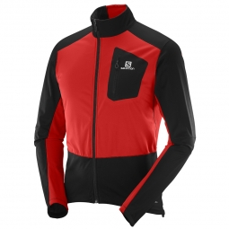 Veste coupe vent de running salomon equipe softshell jacket m s