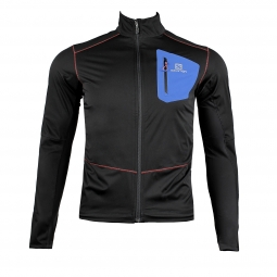 Veste coupe vent salomon equipe softshell jacket m s