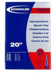 SCHWALBE Chambre à air SV6 20 x 1.125-1.5'' Presta