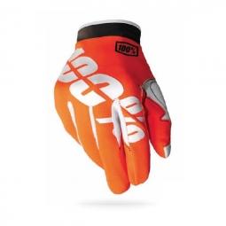 100 paire de gants itrack fire orange l