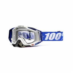 100 masque racecraft cobalt bleu blanc ecran transparent