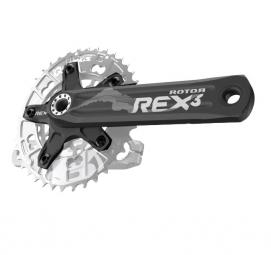 Rotor pedalier rex 3 2 double sans plateau 110 60mm bcd 172 5